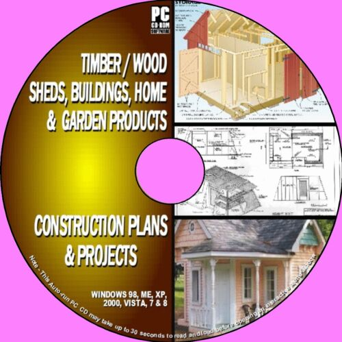1000 DIY WOODEN BUILDINGS SHED BARNS PLAY//WENDYHOUSE PLANS PROJECTS PCCD NEW