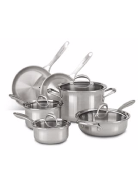 Stainless Steel Empire Red Cookware Set