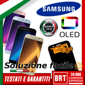 DISPLAY-LCD-TOUCH-SCREEN-OLED-SAMSUNG-GALAXY-A5-2017-SM-A520-A520F-VETRO-SCHERMO