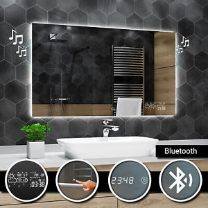 Dubai Bathroom Mirror with LED Lighting Wall Mirror Mirror Bluetooth Accessories A04