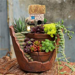 Ciel-Jardin-Succulentes-Plante-Jardiniere-en-Resine-Herbe-Fleur-Cactus-Pot-Boite