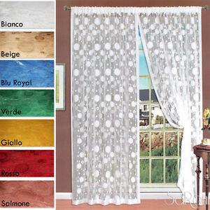 Tenda-a-Filo-Ricamo-Pois-2-Pannelli-150x280-cm-Arredo-Casa-Divisorio-Vari-Colori