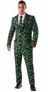 Tie Set Mens Adult Irish Leprechaun Shamrock Costume Adult ST PATRICKS Jacket