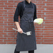 BLACK AND WHITE APRON Butchers Catering Cooking PROFESSIONAL CHEF APRONS
