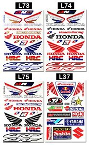 Honda-Wings-Stickers-Motorcycle-Dirt-Bike-Truck-Tank-HRC-Motocross-Decals-Sheets