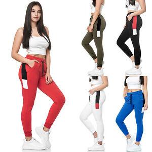 Donna-Jogging-Pantaloni-Jogger-Streetwear-Sportivi-Modello-1268C-John-Kayna