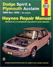 Dodge Spirit Plymouth Acclaim Service Manual 1989 - 1995 1994 1993 1992 1991 90