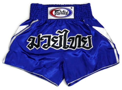 New Fairtex Muay Thai MMA K1 Boxing Shorts Blue Satin BS0605 Victory