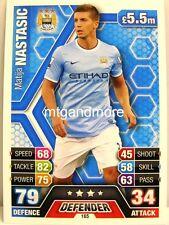 Match Attax 2013/14 Premier League - #165 Matija Nastasic - Manchester City
