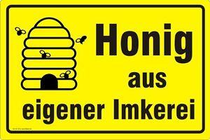 Honig-aus-eigener-Imkerei-Waben-Imker-Bienen-Druck-wetterfest-Nr-3232