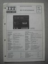 ITT/schaub Lorenz SCX 75 HIFI Professional Service Manual, tb034