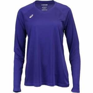 ASICS-Circuit-8-Long-Sleeve-Athletic-Running-Tops-Purple-Womens