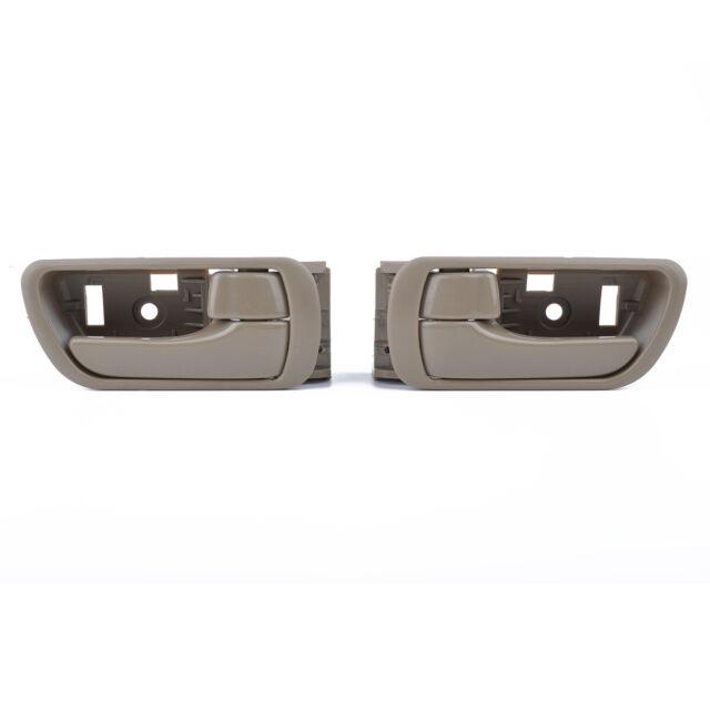 Inner Door Handle Inside Interior Beige LH & RH For 02-06 Toyota Camry 1 Pair
