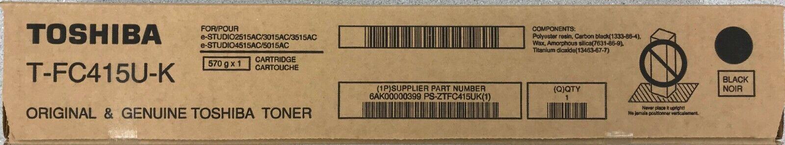 Black Toshiba TFC415UK T-FC415U-K E-Studio 2515AC 3015AC 3515AC 4515AC 5015AC Printers Toner Cartridge in Retail Packaging