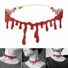 Horror Blood Red Choker Necklace Halloween Frankenstein Punk Rock Jewelry New