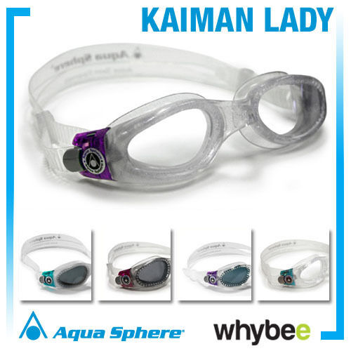 AQUA SPHERE KAIMAN LADIES SWIMMING GOGGLES WOMENS SWIM GOGGLES Purple Raspberry