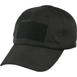 fcdcc5a20da Black Police Low Profile Adjustable Tactical Hat Operator Cap 9362 Rothco