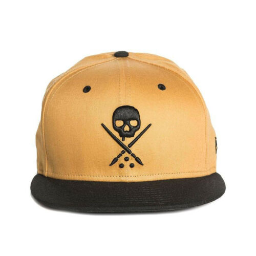 Sullen Men/'s NE Eternal Honey Snapback Hat New Era Skull Tattoo Mustard Yellow