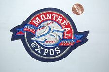 "Montreal Expos 4 3/4"" Patch 25th Anniversary 1969-1993 Logo Baseball"