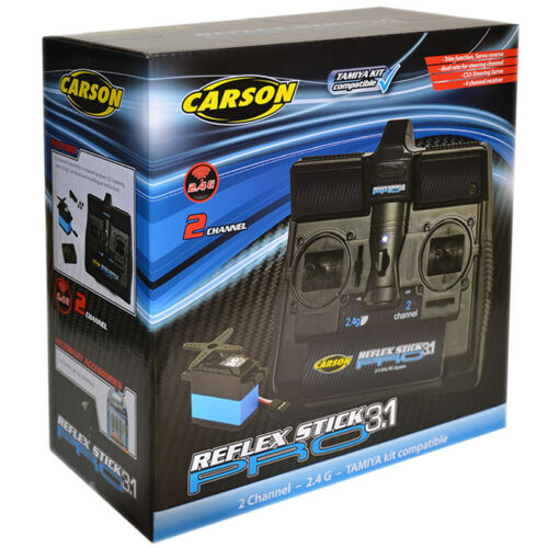 CARSON Reflex Stick Pro3.1 R//C 2Ch 2.4ghz Radio Transmitter Inc Servo C707131