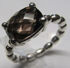 Authentic Pandora Smokey Quartz Autumn Breeze Ring Size 6 (52) 190869SQ