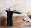 Bathroom Faucet Waterfall Vintage Durable Wine Glass Style Mixer Single Hole Tap