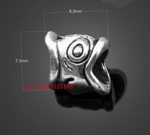 PJ655  20pc Retro Tibetan Silver big hole bead Jewelry Accessories wholesale