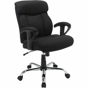 Black Office Chair Tall Manager Mesh Desk Furniture Heavy Duty 300lb Max