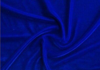"""ROYAL BLUE VELVET FABRIC 45"""" WIDE 1 YDS"""
