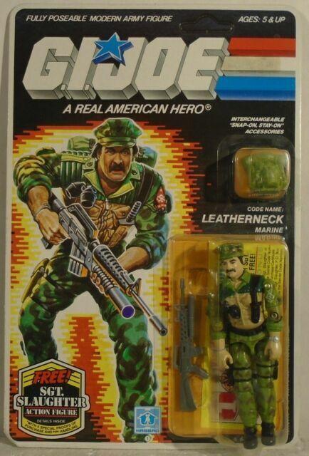brown Joe Leatherneck  M-16 rifle Vintage 1986 Hasbro G.I