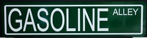 METAL STREET SIGN GASOLINE ALLEY SUNOCO SINCLAIR EXXON MOBIL BP INDY 500 ESSO