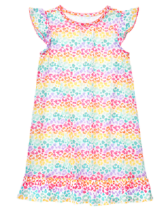 Gymboree Multi Color Cheetah Animal Print Nightgown Gymmies Toddler Girl Size 2t Beautiful And Charming Girls' Clothing (newborn-5t)