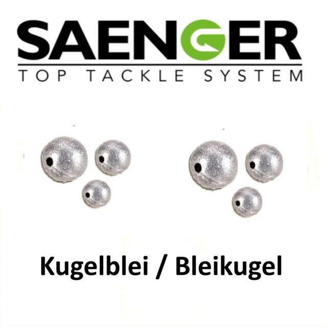 10 Stück 5gr. Durchlaufblei Angelblei Sänger Specitec KUGELBLEI