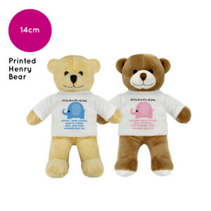 faa361291eb08 Personalised Name New Baby Boy Girl Henry Teddy Bear Gifts Gift ...