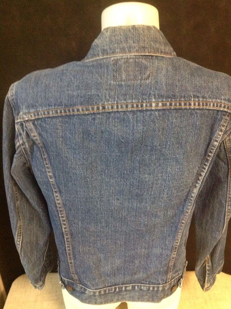 VINTAGE LEVIS JEAN Jacket Denim TRUCKER Made In U… - image 4