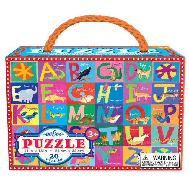 Toddler Puzzle eeBoo Puzzle Animal Alphabet 20 Pieces