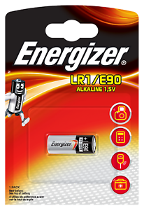 2x E90 LR1 Energizer Alkaline Alkani Mangan Lady N 1,5V 1er Blister