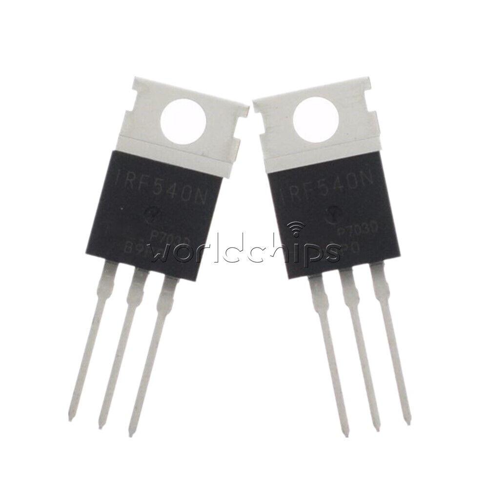 N-Channel MOSFET Pack of 5 100 V Major Brands IRF540 Transistor