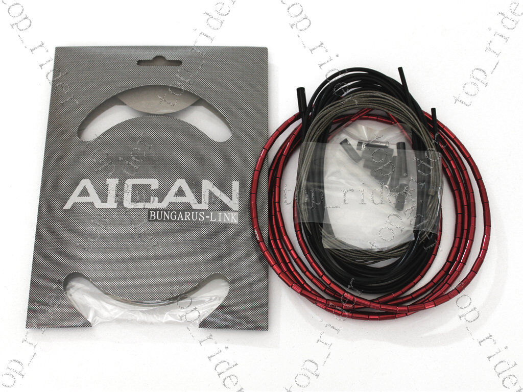 AICAN Superlight Bungarus-Link Shift Derailleur Cable Housing Kit Red