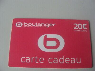 Carte Cadeau Gift Card Boulanger Ancienne Pour Collection Ebay