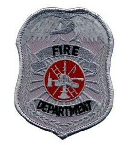 Fire Department Patch Badge Reflective Silver Color #5383