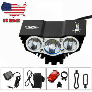 Powerful 10000Lm 3x XML T6 LED Front Head Bicycle Bike MTB Light Lamp+Taillligh<wbr/>t