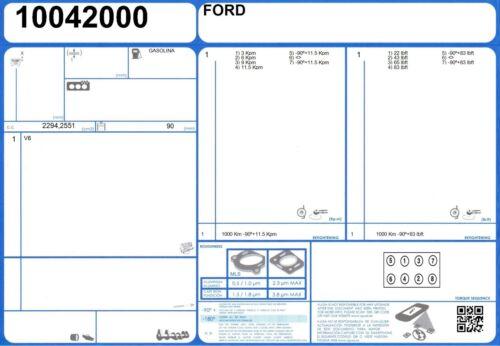 9//1970//1973 Full Engine Rebuild Kit D/'étanchéité De Ford Capri V6 2.6 125 V6