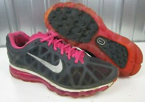 27ee8174f42a Nike Air Max 2011 + Plus Spark Pink Anthracite Grey Women s Running ...