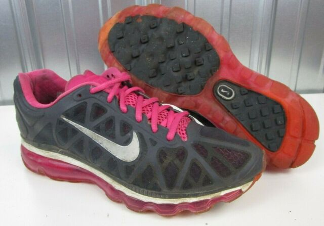 buy popular 4998e 1ebbe Nike Air Max 2011 + Plus Spark Pink Anthracite Grey Women s Running Shoes  size 8