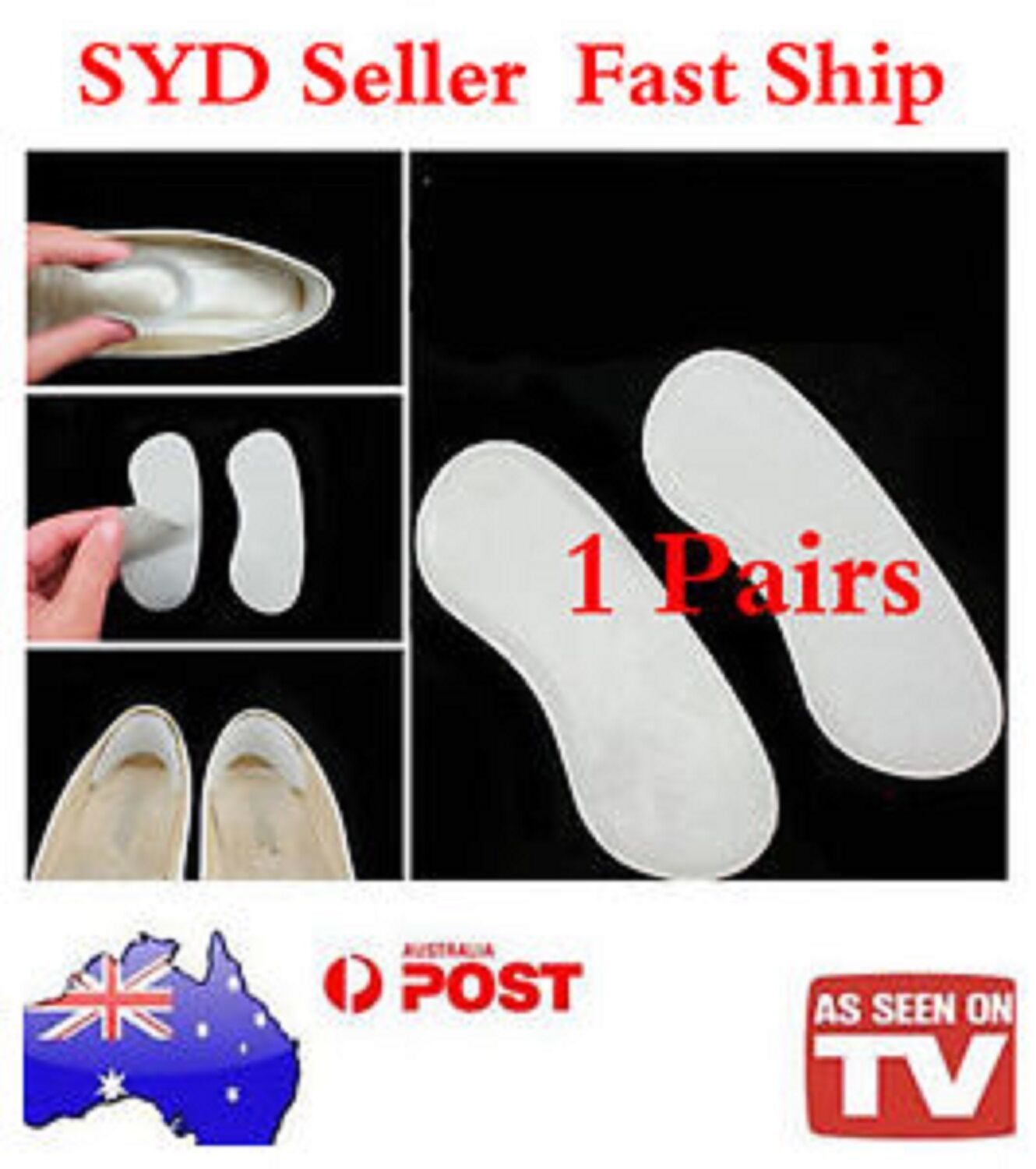 1 pairs SILICONE HIGH-HEEL cushions, Shoes Shoe-Pad Pad, insoles, Heel Insoles Shoe-Pad Shoes 7d950d