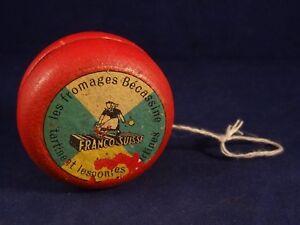 Ancien Jouet Publicitaire Yo-yo Bois Franco Suisse Fromages Bécassine Années 50