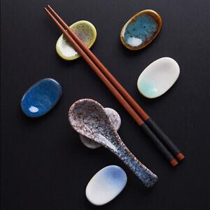 Japanese Chopstick Rest Ceramic Sakura Spoon Fork Rack Table Pen Holder Cutlery