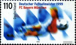 BRD-BR-Deutschland-2074-kompl-Ausg-postfrisch-1999-Fussballmeister