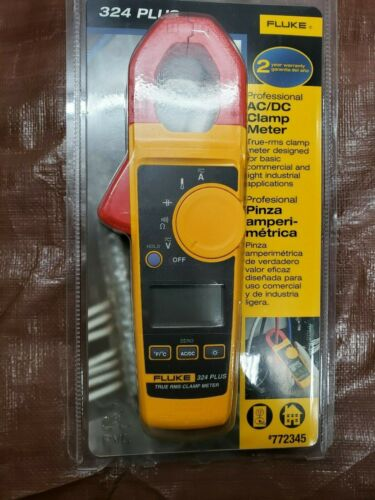 Fluke 324 Plus Professional AC//DC Clamp Meter New and Sealed